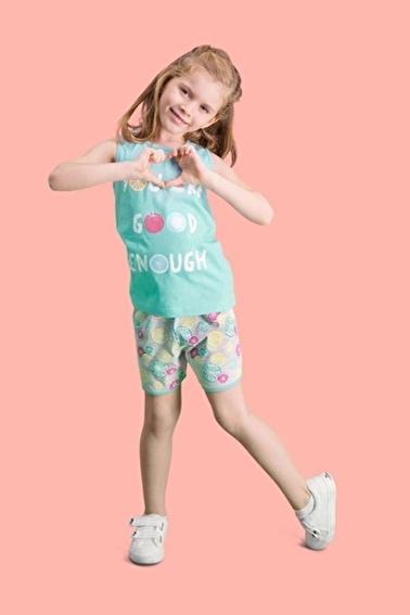 Roly Poly Rolypoly Summer Fruits Kız Çocuk Şort Takım Yeşil
